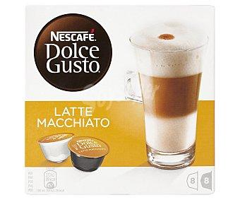 Dolce Gusto Nescafé Café Latte 8 cápsulas de leche + 8 cápsulas café