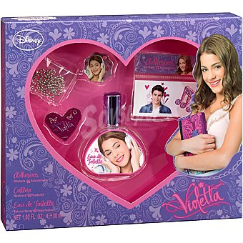 DISNEY Violetta eau de toilette infantil + adhesivos + collar spray 30 ml