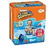 Pañales bañador talla 5, para niños de 12 a 18 kilogramos 19 uds Little Swimmers Huggies