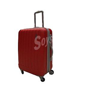 In Extenso Maleta de 4 ruedas abs, rígida, color rojo, cierre TSA (cierre homologado por la Agencia de Trasportes de eeuu) Medidas: 66x42x28