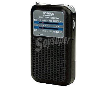 Daewoo Radio portátil DRP-8 analógica, radio am/fm, altavoz incorporado analógica, radio am/fm, altavoz incorporado