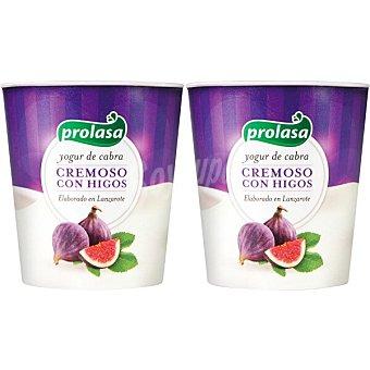 Prolasa yogur de cabra con higos pack 2 unidades 125 g