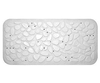 TOYMA Alfombra antideslizante para ducha modelo Piedras, color blanco, 75x36 centímetros 1 unidad