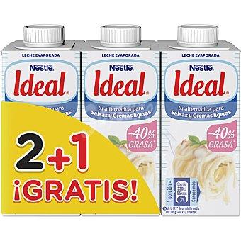 La Lechera Nestlé Leche evaporada parcialmente desnatada pack 2 envases 210 g + 1 gratis pack 2 envases 210 g