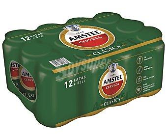 Amstel Cerveza rubia clasica Lata pack 12 x 330 cc - 3960 cc