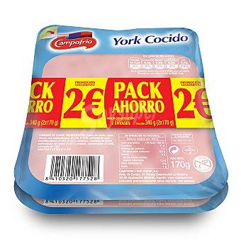 Campofrío Jamón cocido lonchas Pack de 2x160 g