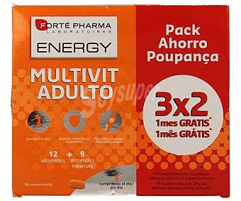 Forte Pharma Multivit Adulto 12 vitaminas y 9 minerales Caja 84 comprimidos