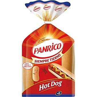 PANRICO AMERICAN pan hot dog 6 unidades bolsa 330 g 6 unidades