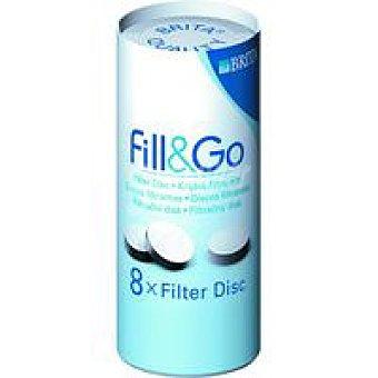 Brita Discos filtrantes para botella fill&go Pack 8 unid