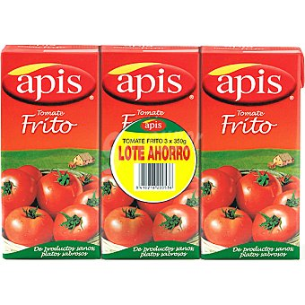 Apis Tomate frito lote ahorro Pack 3 envases 350 g