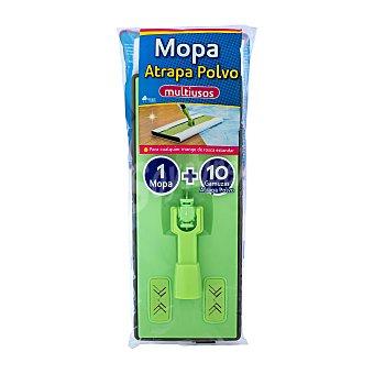 Bosque Verde Mopa bastidor atrapapolvo + recambio 10 gamuzas desech.(sin palo) 1 Unidad