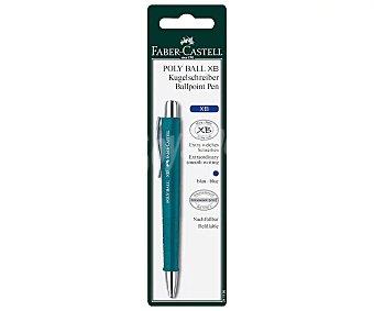 Faber Castell Bolígrafo retráctil roller, grip suave, punta media, grosor 0.5mm, azul faber castell Poly ball XB