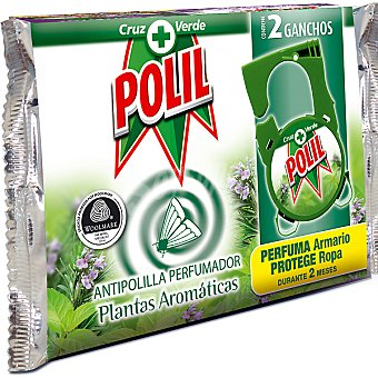 Polil Raid Colgador perfume plantas aromáticas Paquete 2 unidades
