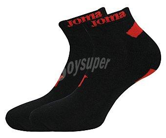 JOMA Pro series Pack de 2 pares de calcetines tobilleros de algodón color negro, talla 43/46