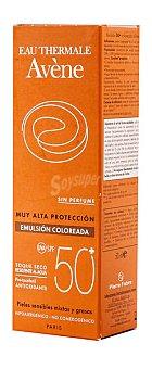 Avène Emulsión 50+ color sin perfume Tubo 50 ml
