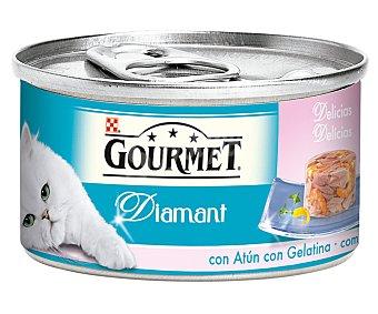 GOURMET DIAMANT Atun y gambas para gatos  lata 85 g