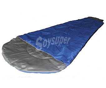 Productos Económicos Alcampo Saco transformable de polyester 100% con relleno de 150 gramos y medidas de 180x75 centímetros. Incluye bolsillo en la parte superior para guardarlo 1 unidad
