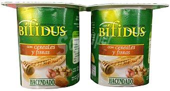 Hacendado Yogur bífidus desnatado muesli fibra Pack 4 x 125 g - 500 g