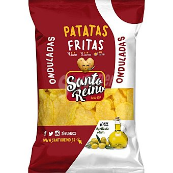 Santo Reino Patatas fritas onduladas con aceite de oliva 230 g
