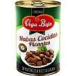 Habas cocidas picantes Baja Lata 240 g neto escurrido Vega Baja