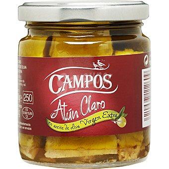 Campos Atún claro en aceite de oliva virgen Frasco 150 g neto escurrido