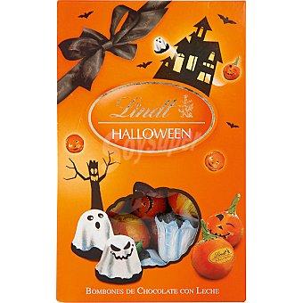 Lindt Bombones Halloween de chocolate con leche con formas de fantasmas y calabazas Bolsa 113 g