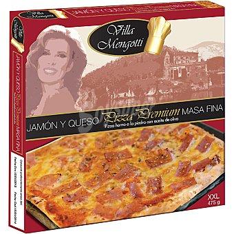 VILLA MENGOTTI Premium Pizza jamón y queso masa fina Estuche 475 g