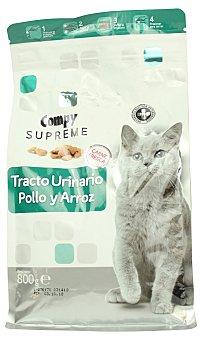 Compy Comida para gato croqueta control urinario sabor pollo y arroz  Paquete 800 g