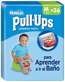 HUGGIES PULL UPS Calzoncillo de aprendizaje para niño talla 5 bolsa 26 unidades 11-18 kg