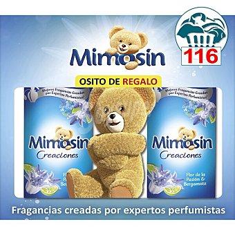 Mimosín Creaciones suavizante concentrado Flor de la Pasión & Bergamota Pack 2 botellas 58 dosis