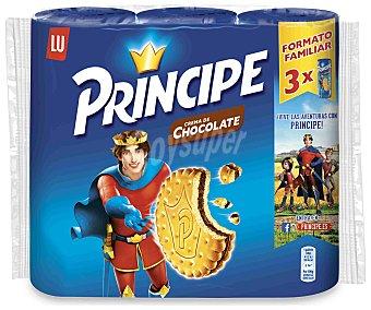 Príncipe Galletas rellenas de chocolate pack 3 paquetes 300 g