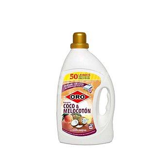 Oro Detergente líquido coco & melocotón Botella 50 dosis