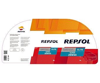 Repsol Aceite mineral para vehículos gasolina y diésel ligeros 5 Litros