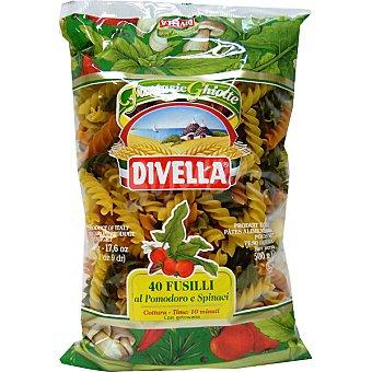 DIVELLA Fusilli tricolore 40 paquete 500 g
