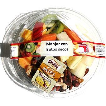 PLACERES NATURALES Ensalada de frutas y frutos secos con miel Tarrina 500 g