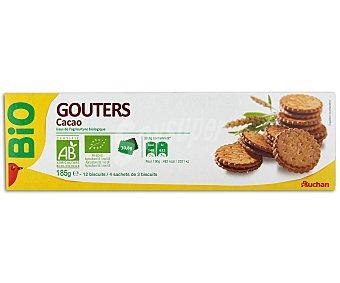Auchan Galletas Rellenas de Cacao Ecológico 12 unidades (185 Gramos)