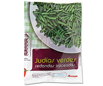 Auchan Judías verdes redondas troceadas y ultracongeladas 1 kg