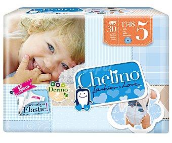Chelino Pañales talla 5 para niños de 13 a 18 kilogramos 30 unidades 30u