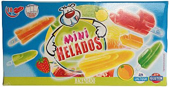 Hacendado Helado palo hielo mini frutas Caja 18 u