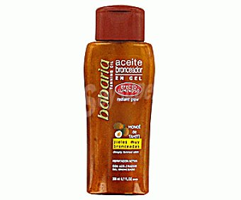 Babaria Aceite bronceador gel efecto luminoso Spray 200 ml