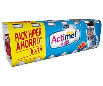 ACTIMEL de DANONE Yogur líquido Lactocasei Imunitass con sabor a fresa 14 unidades de 100 g
