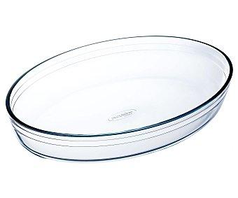 ARCUISINE Fuente oval de 39x27 centímetros con 2 pequeñas asas y fabricada en cristal 1 Unidad