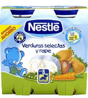 Nestlé Tarrito de verduras selectas y rape Pack de 2x250 g