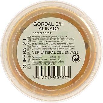 Guerra Aceitunas gordal sin hueso aliñadas envase 200 g Envase 200 g