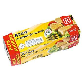 DIA Atún en aceite de girasol Pack de 6 latas 312 gr