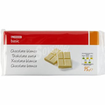 Eroski Chocolate blanco Pack 3x75 g