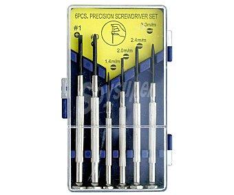 Productos Económicos Alcampo Juego de 6 Destornilladores de Precisión 1 Unidades