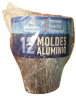 Aliberico Molde desechable aluminio flan Paquete 12 u