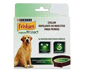 Purina Friskies Collar Natur Protect, repelente de insectos (no contiene insecticidas químicos), marrón 1 Unidad