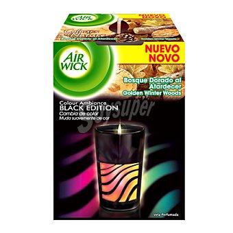 Air Wick Ambientador Vela Colour Ambiance Black Edition Bosque Dorado al Atardecer 1 ud